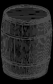 botte di legno disegno a mano