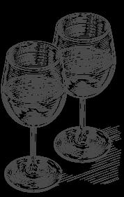 bicchieri di vino disegno